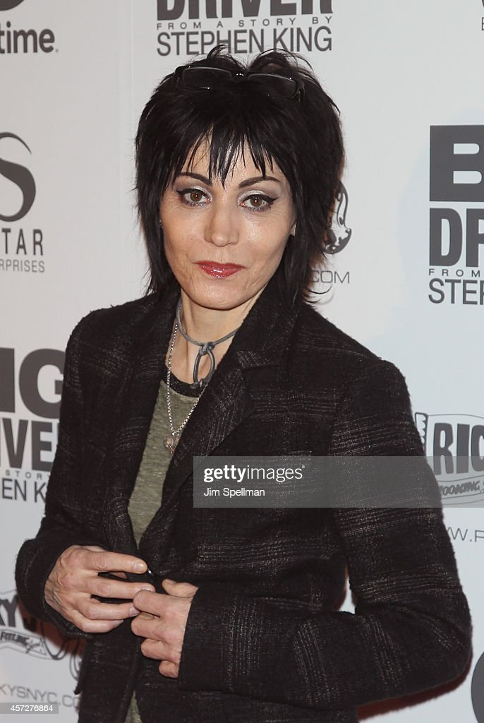 singer/actress Joan Jett attends the 'Big Driver' New York Premiere at Angelika Film Center on October 15, 2014 in New York City.