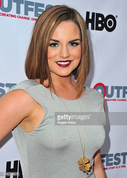 Singer/actress JoJo arrives at the 2013 Outfest Film Festival closing night gala of 'GBF' at the Ford Theatre on July 21 2013 in Hollywood California