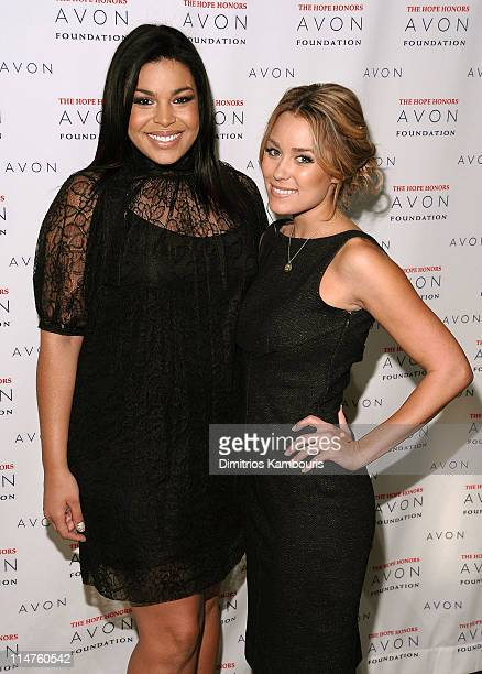 Singer/actress Jordin Sparks and actress Lauren Conrad attend the Hope Honors hosted by the Avon Foundation at Cipriani 42nd Street on October 28...