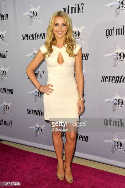 Singer/actress Julianne Hough attends the unveiling of the new 'got milk' ad campaign at Hearst Tower on February 1 2011 in New York City