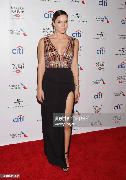 Singer-actress Katharine McPhee arrives at the Universal Music Group's 2017 GRAMMY After Party at The Theatre at Ace Hotel on February 12, 2017 in...