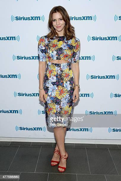Singer/actress Katharine McPhee visits at SiriusXM Studios on June 18 2015 in New York City