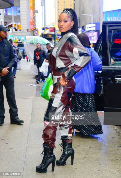 Singer/Actress Keke Palmer is seen outside good morning america on April 18 2019 in New York City