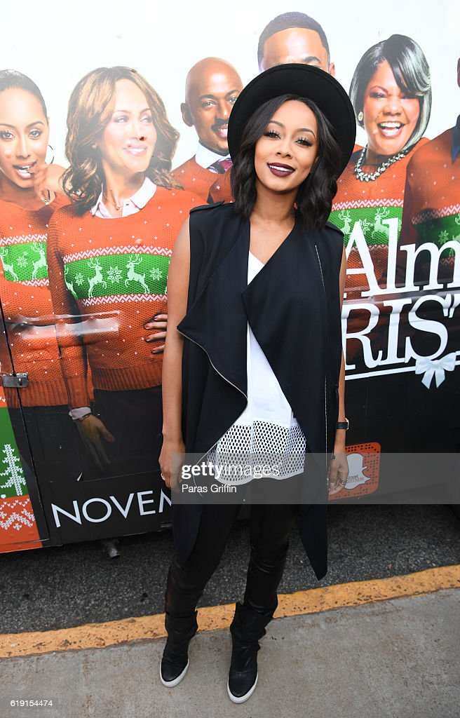 Singer/actress Keri Hilson attends \'Almost Christmas\' Food Truck ...