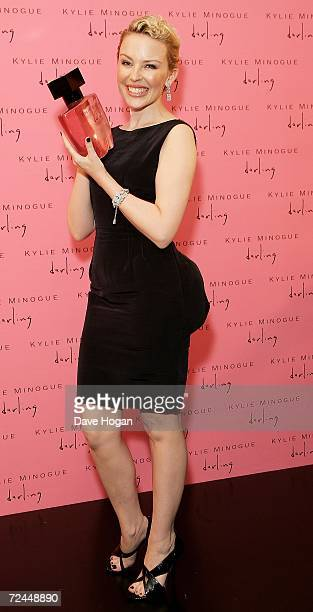 Singer/Actress Kylie Minogue appears at a photo call to launch her new fragrance 'Darling' by Coty on November 8 2006 in Sydney Australia The photo...