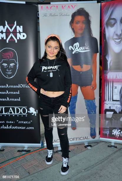 Singer/actress Laci Kay attends Mother's Day Night Out Concert at Surf City Nights on May 9 2017 in Huntington Beach California