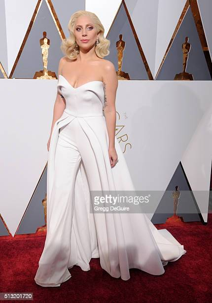 Singer/actress Lady Gaga arrives at the 88th Annual Academy Awards at Hollywood Highland Center on February 28 2016 in Hollywood California