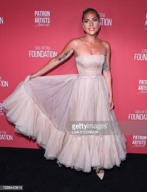 Singer/actress Lady Gaga attends the The SAGAFTRA Foundation 3rd Patron of the Artists Awards in Los Angeles California on November 8 2018