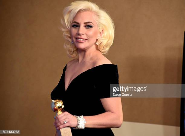 Singer/actress Lady Gaga, winner of the award for Best Performance by an Actress in a Limited Series or a Motion Picture Made for Television for...