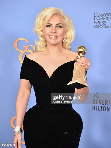 Singer/actress Lady Gaga winner of the award for Best Performance by an Actress in a Limited Series or a Motion Picture Made for Television for...