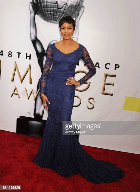 Singeractress Letoya Luckett arrives at the 48th NAACP Image Awards at Pasadena Civic Auditorium on February 11 2017 in Pasadena California