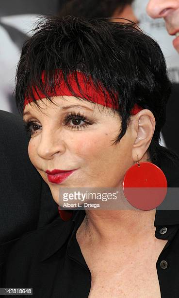 """Singer/actress Liza Minnelli attends the World Premiere of 40th Anniversary Restoration of """"Cabaret"""" at Grauman's Chinese Theatre on April 12, 2012..."""