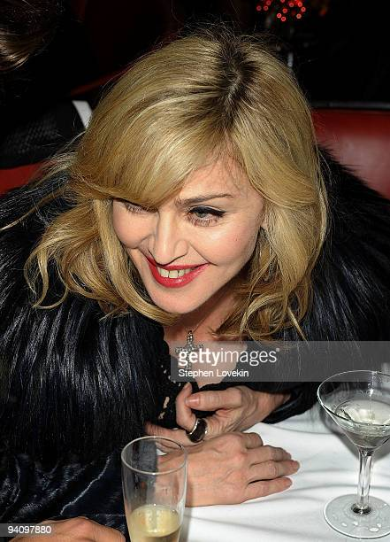 Singer/actress Madonna attends the after party for A Single Man hosted by The Cinema Society and Bing at Monkey Bar on December 6 2009 in New York...