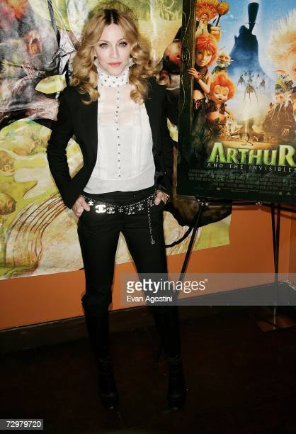 "Singer/actress Madonna hosts a special screening of ""Arthur And The Invisibles"" at the Tribeca Cinemas January 11, 2007 in New York City."
