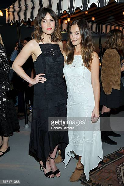 Singer/actress Mandy Moore and actress Minka Kelly attend Doen's celebration of the launch of their collection with friends and family on March 23...