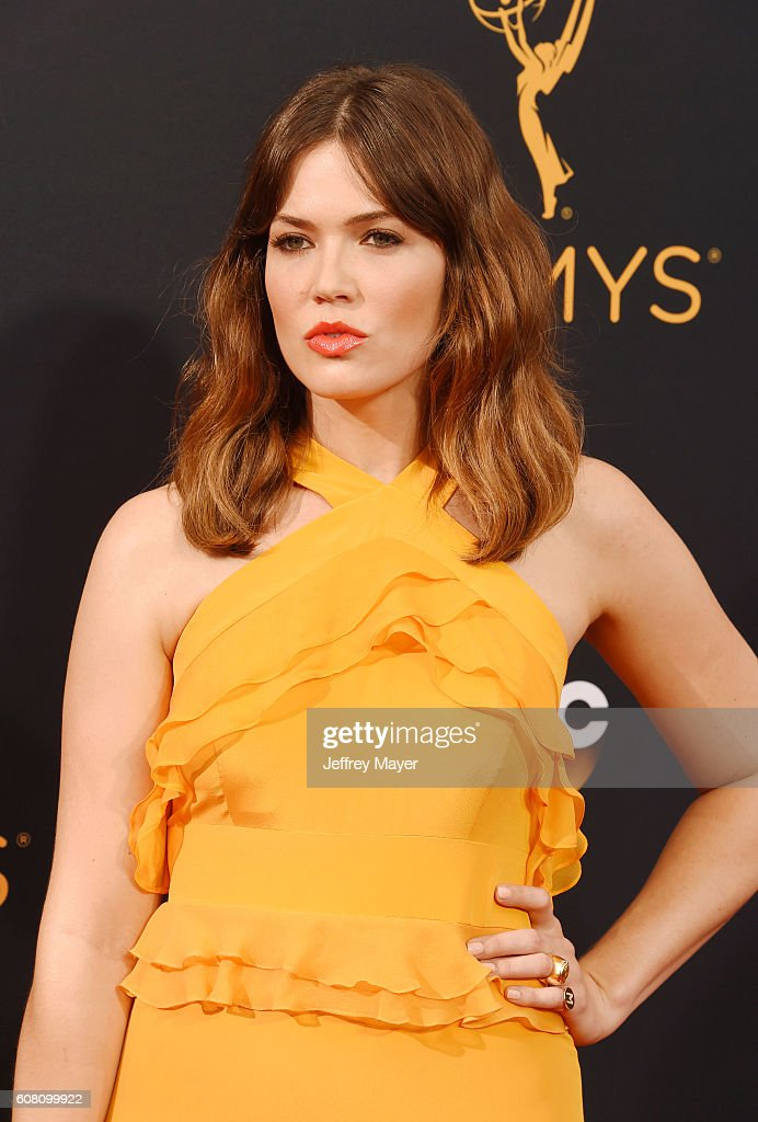 Singer/actress Mandy Moore arrives at the 68th Annual Primetime Emmy Awards at Microsoft Theater on September 18, 2016 in Los Angeles, California.
