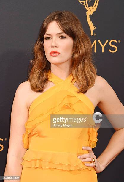 Singer/actress Mandy Moore arrives at the 68th Annual Primetime Emmy Awards at Microsoft Theater on September 18 2016 in Los Angeles California