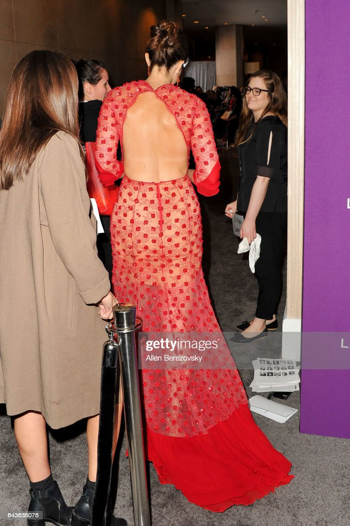 Singer/actress Mandy Moore attends the 19th CDGA (Costume Designers Guild Awards) at The Beverly Hilton Hotel on February 21, 2017 in Beverly Hills, California.
