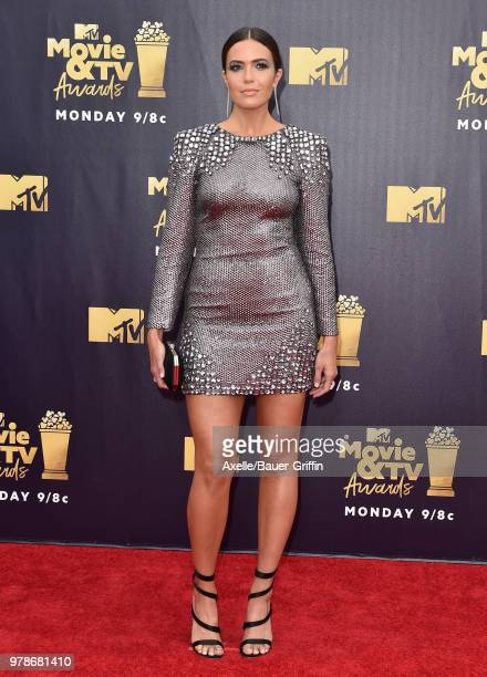 Singer/actress Mandy Moore attends the 2018 MTV Movie And TV Awards at Barker Hangar on June 16 2018 in Santa Monica California