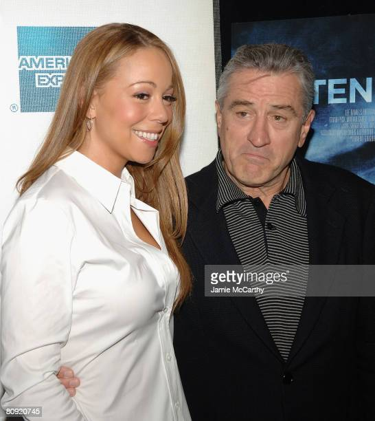 Singer/actress Mariah Carey and Tribeca Film Festival cofounder Robert De Niro attend the 7th Annual Tribeca Film Festival 'Tennessee' Premiere at...