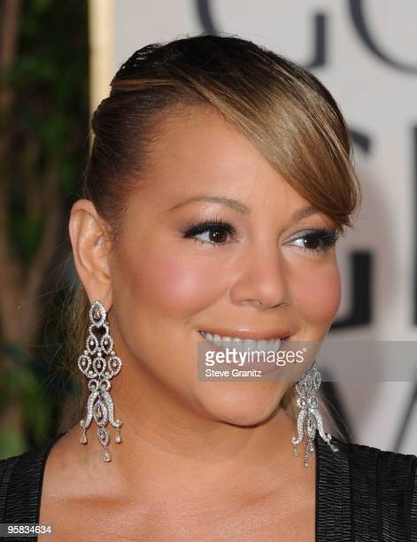 Singer/actress Mariah Carey arrives at the 67th Annual Golden Globe Awards at The Beverly Hilton Hotel on January 17 2010 in Beverly Hills California