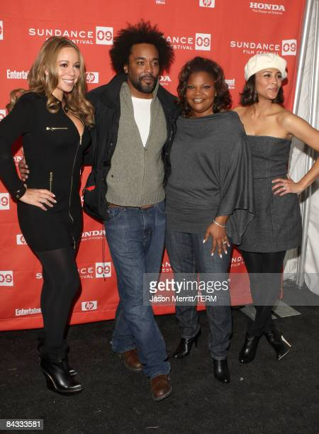 Singer/actress Mariah Carey director Lee Daniels and actresses Mo'Nique and Paula Patton attend the screening of 'Push Based On The Novel By...