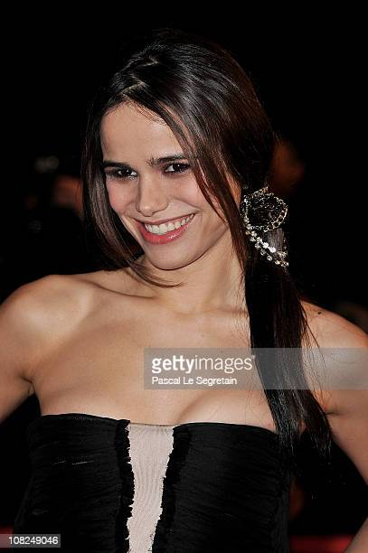 Singer/actress Melissa Mars attends the NRJ Music Awards 2011 on January 22 2011 at the Palais des Festivals et des Congres in Cannes France