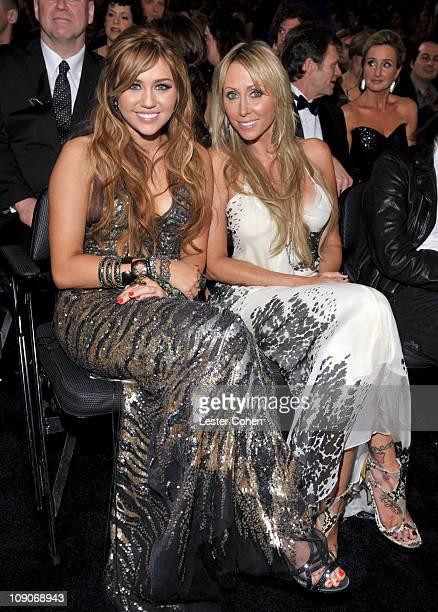 Singer-actress Miley Cyrus and mother Tish Cyrus attend The 53rd Annual GRAMMY Awards held at Staples Center on February 13, 2011 in Los Angeles,...