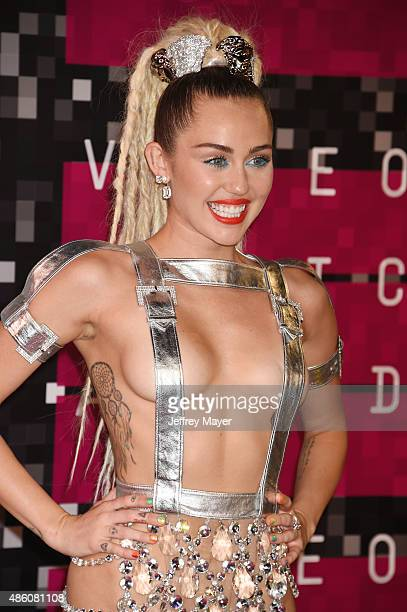 Singer/actress Miley Cyrus arrives at the 2015 MTV Video Music Awards at Microsoft Theater on August 30 2015 in Los Angeles California