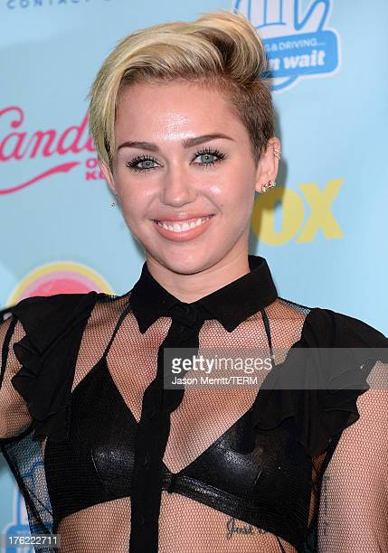 Singer/Actress Miley Cyrus winner of Choice Summer Song for 'We Can't Stop' Choice Female TV Scene Stealer for 'The Big Bang Theory' and Candie's...