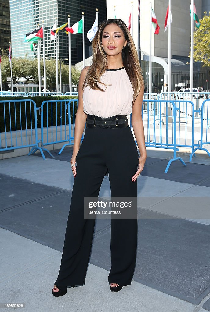 Singer/actress Nicole Scherzinger attends the premiere of Global Goals 60 second Cinema Ad at the United Nations on September 24, 2015 in New York City.
