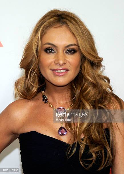 Singer/actress Paulina Rubio arrives at the 2011 Latin Recording Academy's Person of the Year honoring Shakira at Mandalay Bay Resort Casino on...