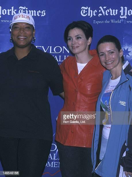Singer/Actress Queen Latifah TV personality Karen Duffy and actress Kristin Davis attend the Fourth Annual Revlon Run/Walk for Women's Cancer...