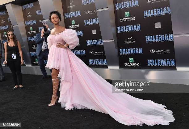 Singer/actress Rihanna arrives at the Los Angeles premiere of 'Valerian and the City of a Thousand Planets' at TCL Chinese Theatre on July 17 2017 in...