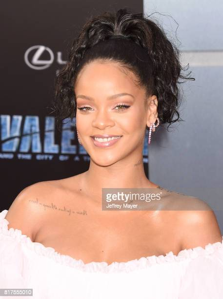 Singer/actress Rihanna arrives at the Premiere Of EuropaCorp And STX Entertainment's 'Valerian And The City Of A Thousand Planets' at TCL Chinese...