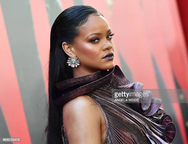 TOPSHOT Singer/actress Rihanna attends the World Premiere of OCEANS 8 June 5 2018 in New York OCEANS 8 will be released nationwide on June 8 2018