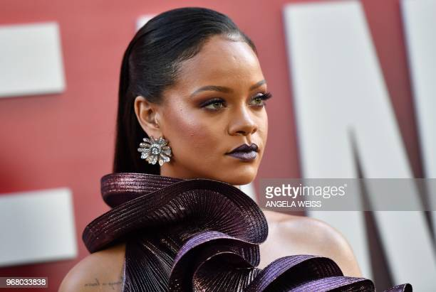 Singer/actress Rihanna attends the World Premiere of OCEANS 8 June 5, 2018 in New York. - OCEANS 8 will be released nationwide on June 8, 2018.