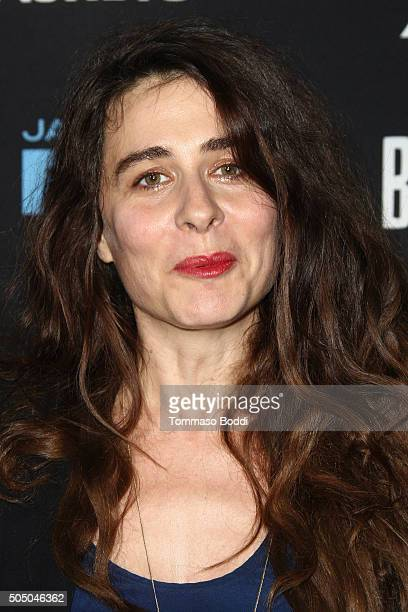 Singer/Actress Sabina Sciubba attends the FX's Baskets red carpet premiere held at Pacific Design Center on January 14 2016 in West Hollywood...