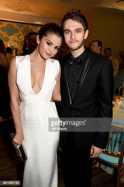 Singer/Actress Selena Gomez and musician Zedd attend HBO's Official Golden Globe Awards After Party at The Beverly Hilton Hotel on January 11 2015 in...