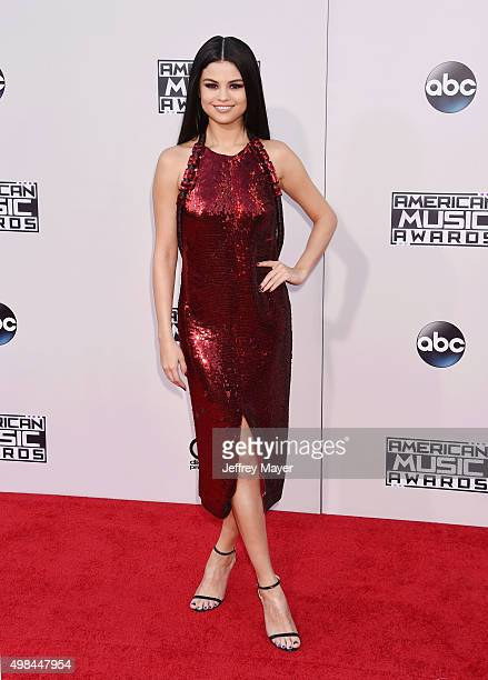 Singer/actress Selena Gomez arrives at the 2015 American Music Awards at Microsoft Theater on November 22 2015 in Los Angeles California