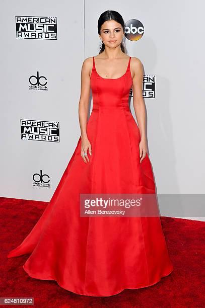 Singer/actress Selena Gomez arrives at the 2016 American Music Awards at Microsoft Theater on November 20 2016 in Los Angeles California