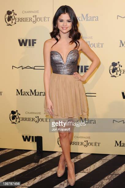 Singer/actress Selena Gomez arrives at the 5th Annual Women In Film PreOscar Cocktail Party at Cecconi's Restaurant on February 24 2012 in Los...