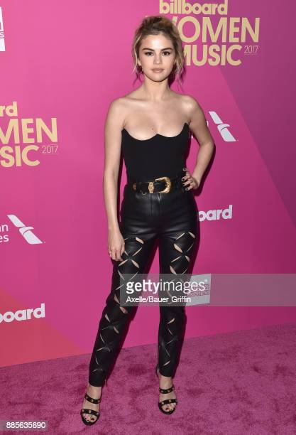 Singer/actress Selena Gomez arrives at the Billboard Women In Music 2017 at The Ray Dolby Ballroom at Hollywood Highland Center on November 30 2017...