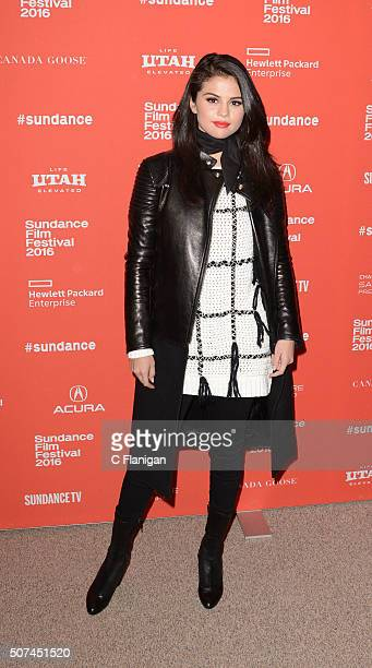 Singer/Actress Selena Gomez attends the 'The Fundamentals of Caring' Premiere during the 2016 Sundance Film Festival at Eccles Theater on January 29...