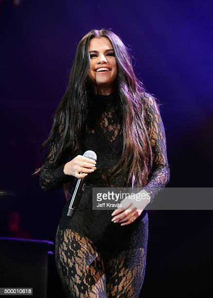 Singer/actress Selena Gomez performs onstage during 1027 KIIS FM's Jingle Ball 2015 Presented by Capital One at STAPLES CENTER on December 4 2015 in...