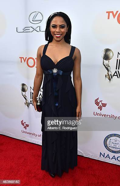 Singer/actress Shanica Knowles attends the 46th NAACP Image Awards presented by TV One at Pasadena Civic Auditorium on February 6 2015 in Pasadena...