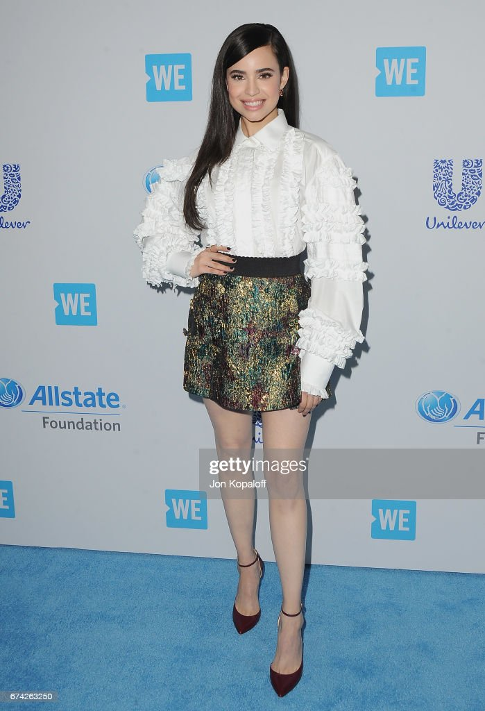 Singer/actress Sofia Carson arrives at We Day California 2017 at The Forum on April 27, 2017 in Inglewood, California.