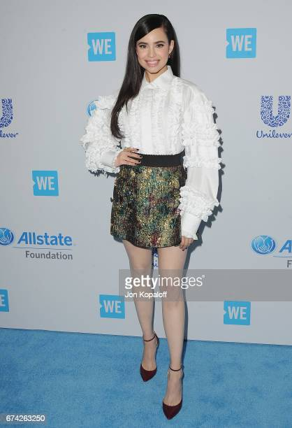Singer/actress Sofia Carson arrives at We Day California 2017 at The Forum on April 27 2017 in Inglewood California