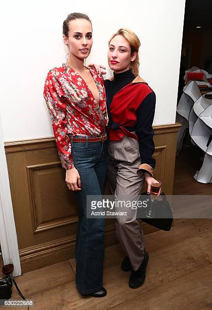 Singer/actress Sophie Auster and Samantha Urbani attend Louis Vuitton presents A Special Screening Of 'Manchester By The Sea' at Crosby Street Hotel...