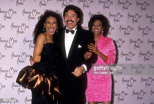 Singer/Actress Telma Hopkins Singer Tony Orlando and Singer Joyce Vincent Wilson attend the 16th Annual American Music Awards on January 30 1989 at...